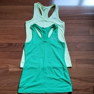 Lot Fila Racerback Workout Tank Tops + Danskin Top